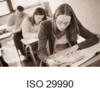 Certyfikat ISO 29990 Usługi szkoleniowe